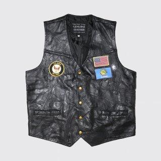 vintage custom leather vest