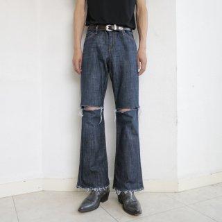 old gap slash flare jeans
