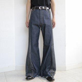 remake upside down jeans , rigid