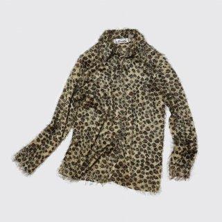 vintage leopard shaggy shirt