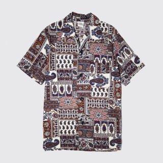 [30%OFF]vintage oriental paisley h/s shirt