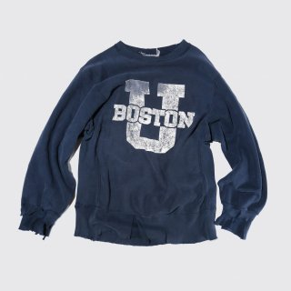 vintage champion reverse weave broken sweat , era-80's , boston univ