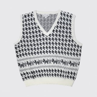 vintage houndstooth knit vest