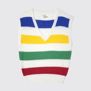 vintage border knit vest