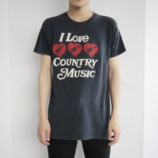also80's i love country music tee