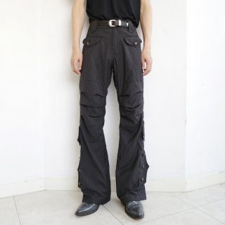 old draping flare trousers