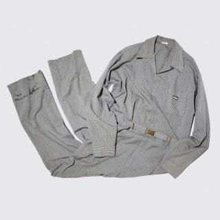 vintage gingham check jumpsuits