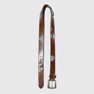 vintage love metal leather belt