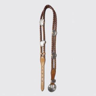 vintage love metal braid leather belt