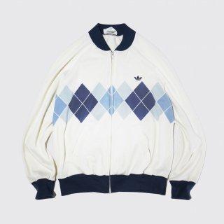 vintage french adidas ventex argyle jersey track jacket