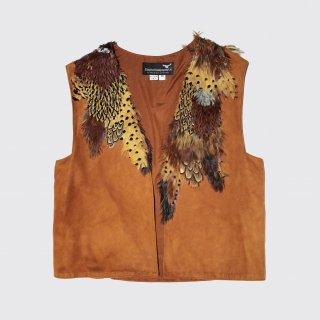 vintage feather craft vest