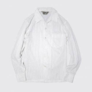 vintage open collar poly shirt