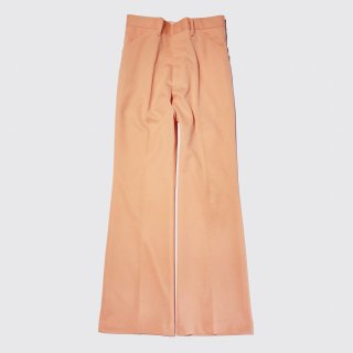 vintage flare poly trousers