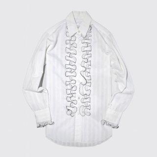 vintage pleats frill shirt