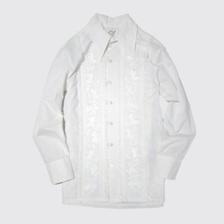 vintage broiderie frill shirt