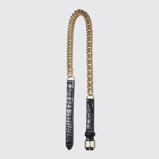 vintage metal chain leather belt