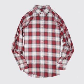 vintage jcrew cotton ombre check shirt
