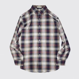 vintage arrow cotton ombre check shirt