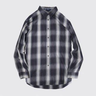 vintage cotton ombre check shirt