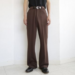 vintage poly flare trousers
