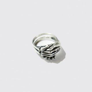 vintage detachable shake hand ring , 925 silver