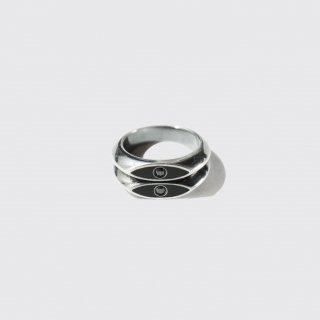 vintage bottega veneta enamelled silver ring