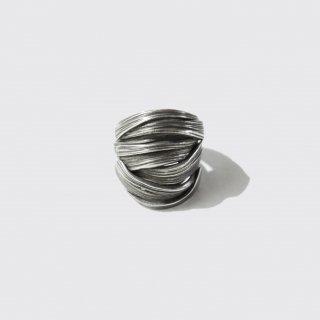 vintage geometry metal ring