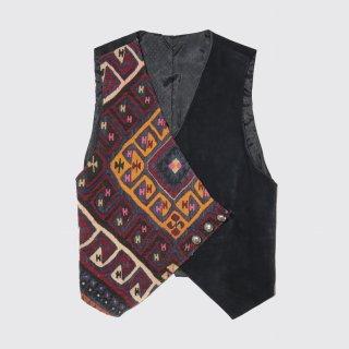 vintage native suede vest