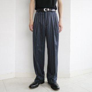 old stripe tuck slacks