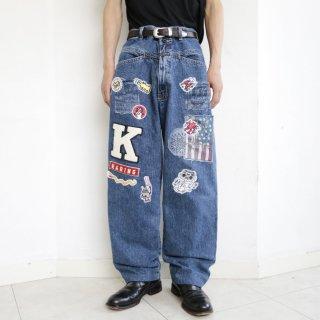 old marithé françois girbaud x buggy jeans , keith haring custom
