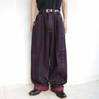 old pleats buggy jeans