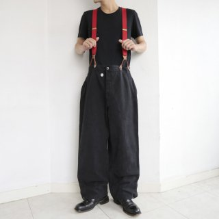 old swiss military denim trousers , with suspender