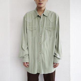 old silk western shirt