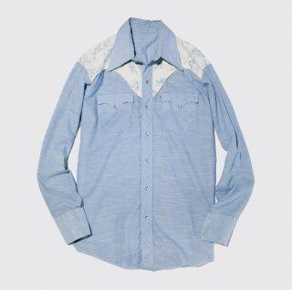 vintage flower yoke western shirt