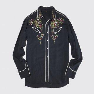 vintage broiderie rayon western shirt