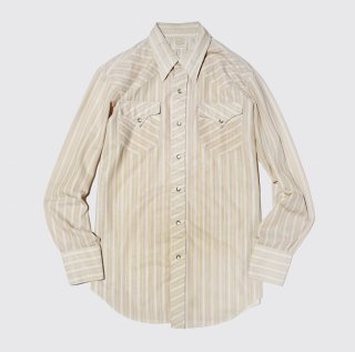 vintage hbarc stripe western shirt