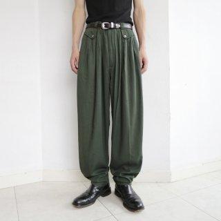old flap tuck tapered slacks