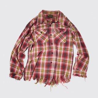 vintage broken check shirt