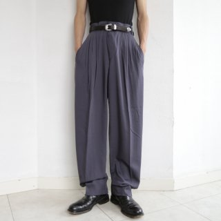 old pleats tapered slacks