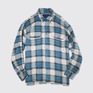 vintage ombre check cotton shirt