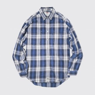 vintage levi's ombre check cotton shirt