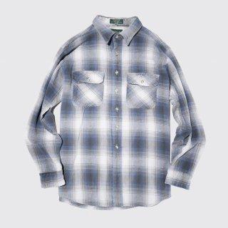 vintage campus ombre check cotton shirt