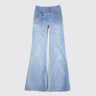 vintage stencil flare jeans