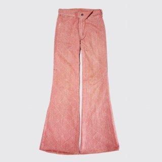 vintage quilt denim flare jeans