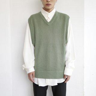 old mint knit vest
