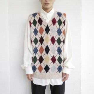 old argyle knit vest