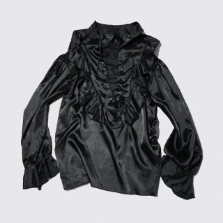 vintage lace up frill shirt