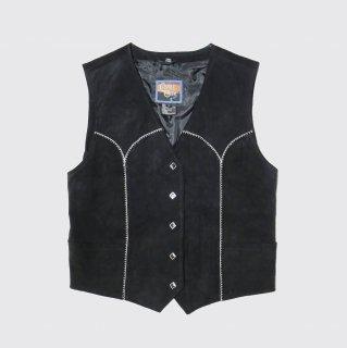 vintage western suede vest
