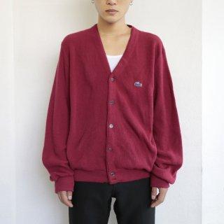 old lacoste acrylic cardigan