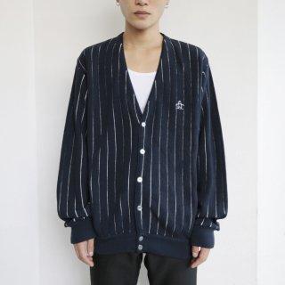 old stripe acrylic cardigan